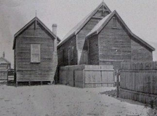 St Hilda's Church original wooden building 1904