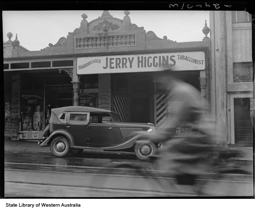 Jerry Higgins Tobacconist Fitzgerald St North Perth