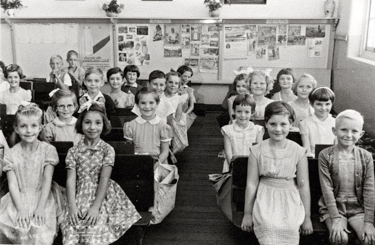 Pupils in the classroom at North Perth Primary School, 1957