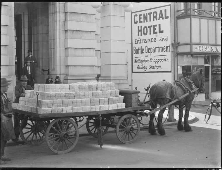 Cart Loaded with Mail Perth GPO, 1930s