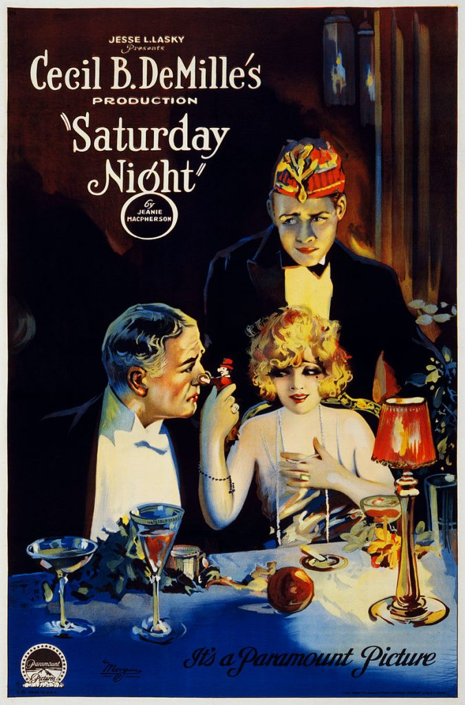 Cecil B. DeMille's Saturday Night, 1922 - Movie Poster