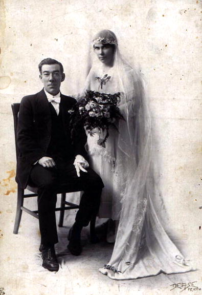 Wedding of May Poland and Bernard John Rice, 1920