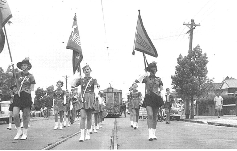 Marching Girls on the last day of the trams North Perth