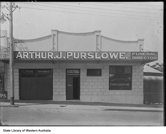 Arthur J. Purslowe premises, c1932