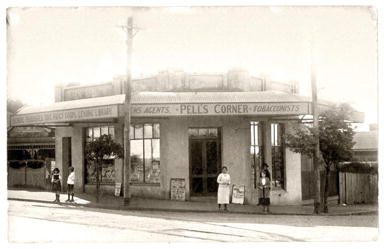 Pell's Corner on the corner of Angove and Woodville streets, North Perth