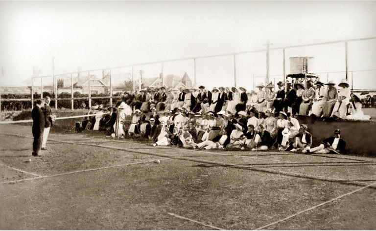 North Perth Tennis Club members at the official opening, 3 May 1913
