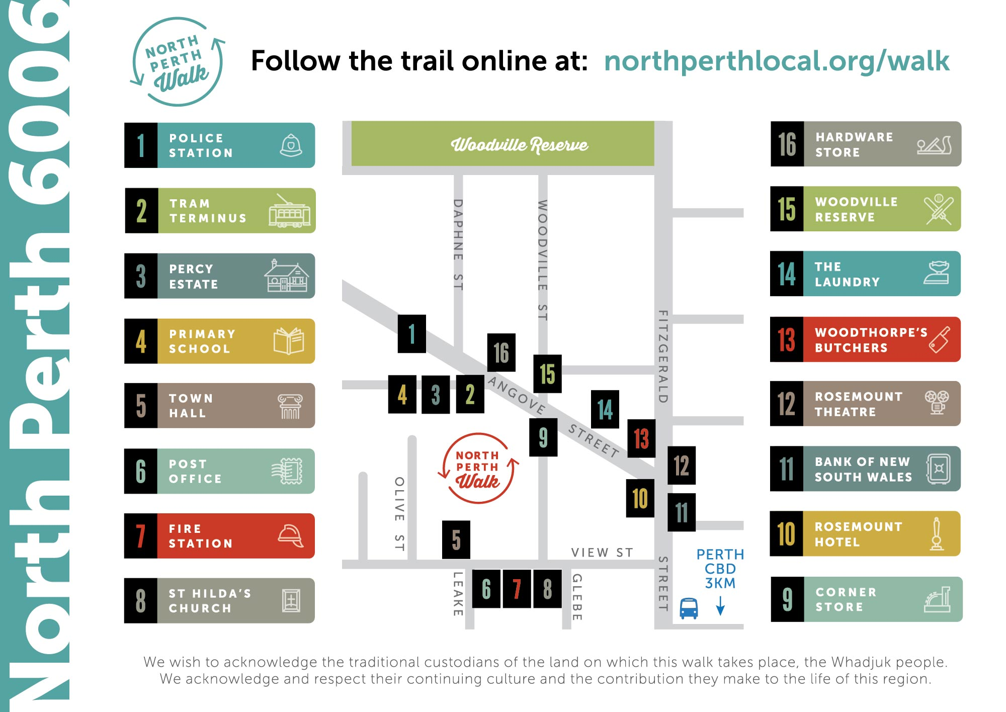 North Perth Walk map